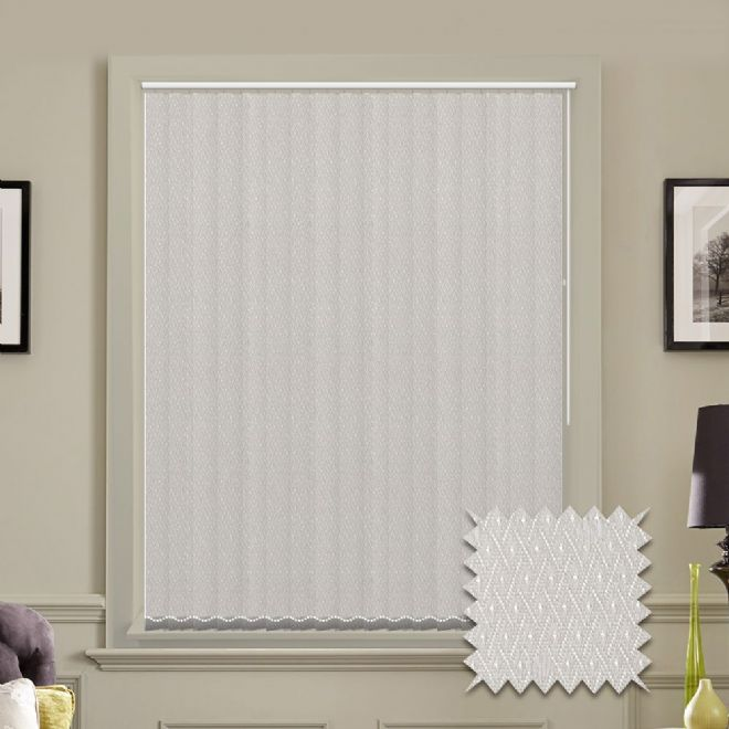 Vertical blinds - Made to Measure vertical blind in Java White - Just Blinds